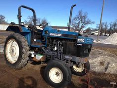 New Holland 7740 tractor salvaged for used parts. This unit is available at All States Ag Parts in Hendricks, MN. Call 877-530-6620 parts. Unit ID#: EQ-23717. The photo depicts the equipment in the condition it arrived at our salvage yard. Parts shown may or may not still be available. http://www.TractorPartsASAP.com