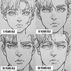 Manga Drawing Tips How to draw a character away different ages. Drawing an aging character Drawing Reference Poses, Drawing Poses, Design Reference, Drawing Tips, Drawing Sketches, Art Reference, Art Drawings, Drawings Of Men, Sketching