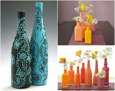 garrafa pintada casamento - Pesquisa Google