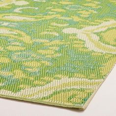 Green Bungalow Ikat Rio Indoor-Outdoor Mat | World Market