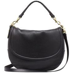 Effie Satchel Black Spongy Pebbled (13 700 ZAR) ❤ liked on Polyvore featuring bags, handbags, shoulder bags, accessories, sacs, purses, bolsas, black satchel, shoulder handbags and leather satchel