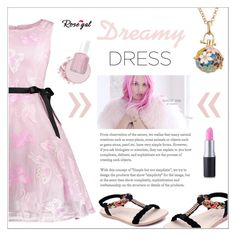 """RoseGal #37"" by shambala-379 ❤ liked on Polyvore featuring Essie and dreamydresses"