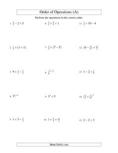 math worksheet : 1000 images about sruthi s work on pinterest  integers order of  : Fraction Order Of Operations Worksheet