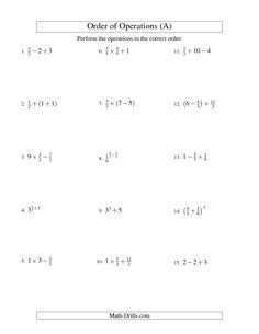math worksheet : 1000 images about sruthi s work on pinterest  integers order of  : Fraction Order Of Operations Worksheet