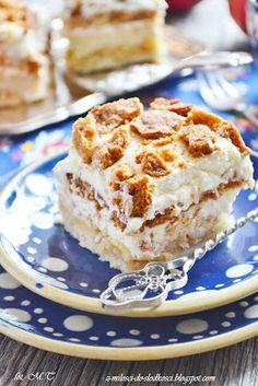 Z miłości do słodkości...: Kruche ciasto z jabłkami i ze śmietaną według Siostry Anastazji