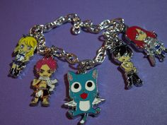 Fairy Tail Bracelet, Anime, Charm Bracelet, Fairy Tail, Anime Jewelry by laminartz on Etsy