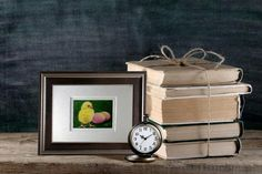 Little Easter Chick Framed Ready to Hang ACEO Art by MelodyLeaLamb