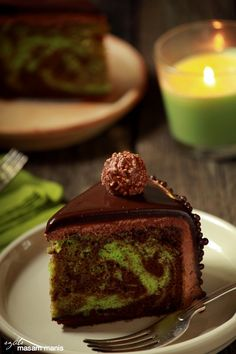 masam manis: MOIST PANDAN MARBLE CAKE