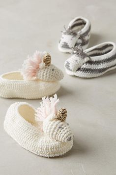 Unicorn Crocheted Booties in white and gold. So precious!