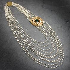 IPSHITA MULTI PEARL LAYER NECKLACE @ Indiatrend For $80.99USD With Free Shiping Worlwide
