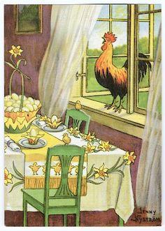 April Easter, Easter Art, Happy Easter, Easter Illustration, Retro Illustration, Vintage Cards, Vintage Postcards, Easter Greeting Cards, Chicken Art