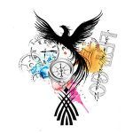 Phoenix Watercolour Tattoo Design. You dream it, we draw it. Get started on your custom tattoo design today! :)