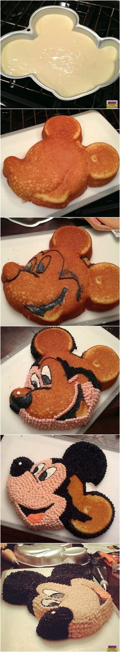 Wilton's Mickey Mouse Birthday Cake Step by Step #Tutorial