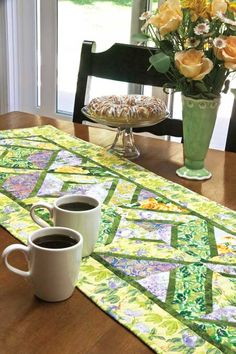 Quilting Daily has the best resources for quilters including quilt patterns, how-to quilt videos, quilting magazines, and more. Place Mats Quilted, Quilted Table Toppers, Mug Rugs, Sunday Brunch, Hot Pads, Table Runners, Quilt Patterns, Projects To Try, Quilting