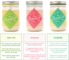 Freshen it up with Spring Seasonals from Produce Candles!