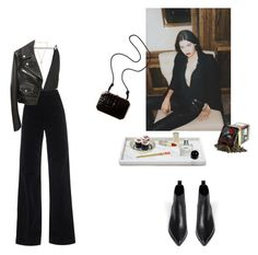 """""""Ornate"""" by cassieella ❤ liked on Polyvore featuring Acne Studios, AG Adriano Goldschmied, Topshop, Ettika, Alexander Wang, Waterworks, Fendi and Byredo"""