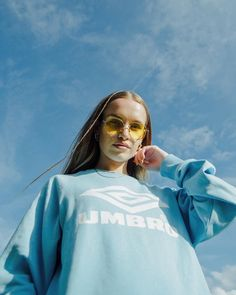 UOonYou via @natwinter_ | UO Community | Umbro Pale Blue Logo Sweatshirt | Urban Outfitters | Women's | Tops | Hoodies & Sweatshirts #urbanoutfitterseu #uoonyou #uoeurope