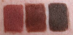 NYX Lip Liners in coffee, cocoa, dark brown