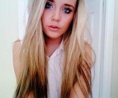 blonde ombre reversed ...hmmm