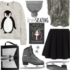 So Cute: Ice Skating Style by the-reluctant-dragon on Polyvore featuring H&M, Vince Camuto, Polo Ralph Lauren, Carianne Moore, Olympia Le-Tan, Pandora, rag & bone and iceskatingstyle