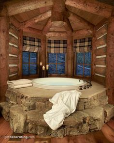 Great cabin/lodge bath.