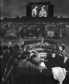 """The drive-in movie's peak popularity came in the late 1950s & early 1960s ~ particularly in rural areas ~with some 4,000 drive-ins spreading across the U.S.  In the 1950s, the greater privacy afforded to patrons gave drive-ins a reputation as immoral, and they were labeled """"passion pits"""" in the media."""