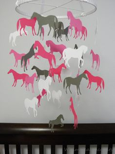 Hey, I found this really awesome Etsy listing at http://www.etsy.com/listing/152364269/horse-decorative-baby-mobile-in-pinks