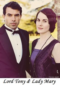 Lady Mary and Lord Gillingham (Michelle Dockery & Tom Cullen)