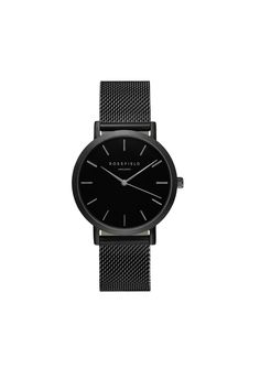 Paying tribute to an exciting street in one of NYCs signature shopping destinations the MERCER collection features stainless steel mesh straps for an exquisite look that suits this fashionable neighborhood.Strap: Matte black plated.Stainless steel mesh strap.With clasp fastening The strap can be easilyadjustedto a minimum length (perimeter) of 15.5 cm and a maximum of 20 cm.This mesh strap is not interchangeable with leather straps from the other collection. Dial: Black dial detailed with…