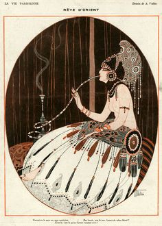 Le rêve d'orient / oriental dream - Armand Vallée (1884-1960)