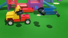 Big Trucks & Vehicles. Cartoons for Kids. Learn numbers [video xe tải lớn/큰 트럭] ABC 123 农行
