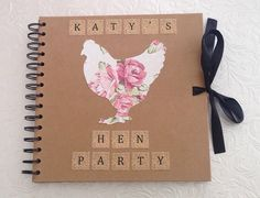 Personalised Hen Party Scrapbook 8 x 8 by CraftsbyImogen on Etsy