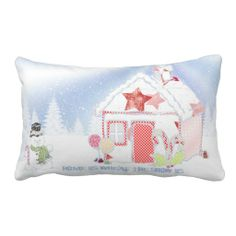 Winter Snow Scene Home Is Where The Snow Is Lumbar Pillows. http://www.zazzle.com/winter_snow_scene_home_is_where_the_snow_is-189204132229910372?rf=238575087705003771