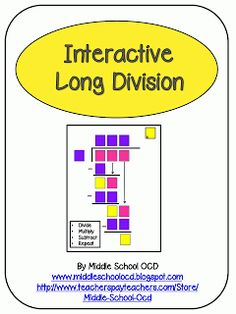 Middle School OCD: Interactive Long Division!