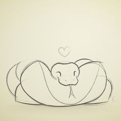 Python sketch by Karianne Hutchinson Illustration vector illustrator art design snake snek danger noodle ball python boa pet snake sleeping sleepy love heart drawing sniffing tongue hoop snoot