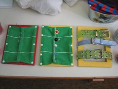 DIY dressing boards: paint your own frame from craft store, upholstery tacks, dollar store rags, and fasteners.