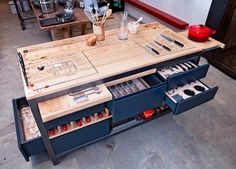 Kitchen: Mis en Place Work Table by Liam Tomlin : Remodelista