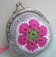Monederos de crochet: Fotos de diseños y patrones (8/20) | Ellahoy