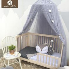 Baby Bedding Mother & Kids Able Baby Bed Mosquito Net Kids Bedding Round Dome Hanging Bed Canopy Curtain Chlildren Baby Room Decoration Crib Netting Tent Agreeable To Taste