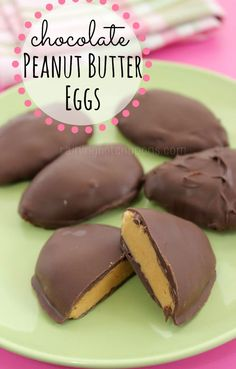 Chocolate Covered Peanut Butter Eggs Recipe: a perfect dessert treat for Easter! Raining Hot Coupons