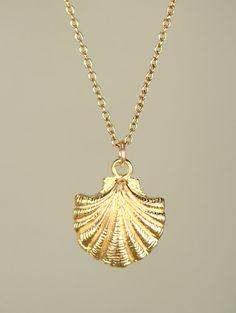 Goldene Halskette zart und zierlich Muschelkette von BubuRuby