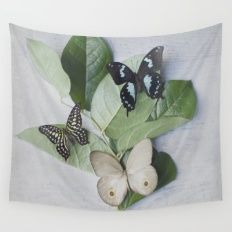 Butterfly Botanical II Wall Tapestry