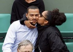 Jesse Williams and his wife Aryn Drake-Lee at the French Open