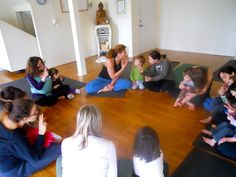 BIrthday candle breathing exercise in Kids & Parents class.