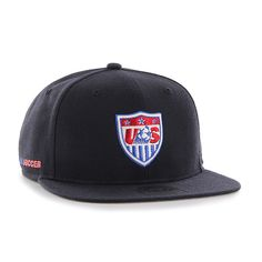 USA United States Soccer National Team 47 Brand Navy Sure Shot Snapback Hat Cap