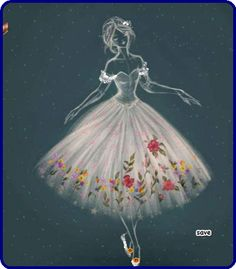 Fashion Drawings, Disney Characters, Fictional Characters, Cinderella, Artsy, Dance, Disney Princess, Dresses, Cute Things