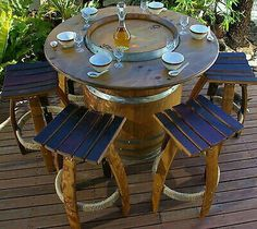 Free Local Classifieds Ads from all over Australia, Buy and Sell in your local area - Gumtree Wine Barrel Diy, Whiskey Barrel Table, Whiskey Barrel Furniture, Whiskey Barrels, Kitchen Stools, Dining Table In Kitchen, Patio Table, Diy Patio, Table Baril