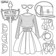 ColoringPages #Fashion #Dresses #Doodles | Coloring pages, Adult ... | 236x236