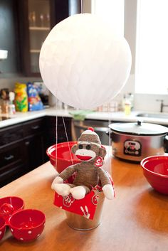 Sock Monkey Birthday Party Ideas | Photo 5 of 62 | Catch My Party