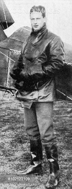 Photographic portrait of Colonel Archie Christie, first husband of Agatha Christie, pictured in his flying gear, c1926